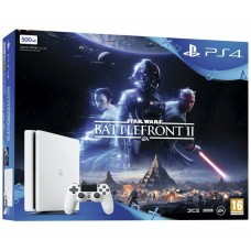 PlayStation 4 SLIM Bundle (500 Gb, Star Wars Battlefront II, белый), , Консоли